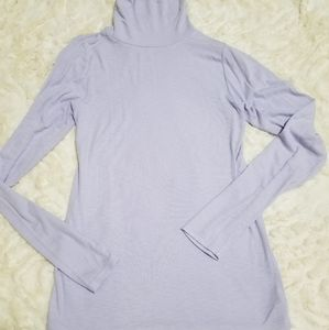 Lilac purple ribbed supersoft turtleneck